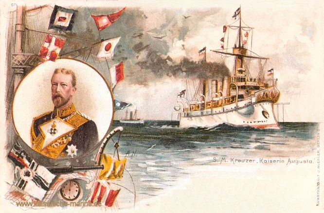 S.M.S. Kaiserin_Augusta und Prinz Heinrich