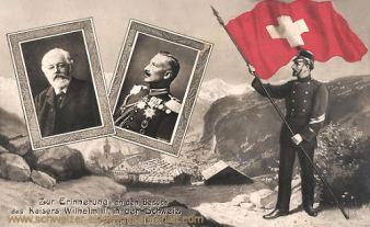 Zur Erinnerung an den Besuch des Kaisers Wilhelm II. in der Schweiz, September 1912