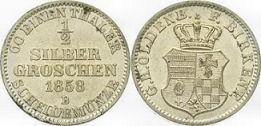 1/2 Silbergroschen, Birkenfeld 1858