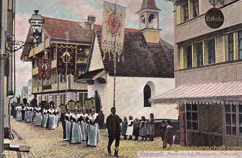 Appenzell, Prozession bei der Abtskapelle