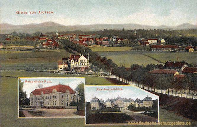 Arolsen, Kaiserliche Post und Residenzschloss