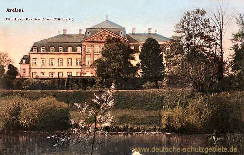 Arolsen, Fürstliches Residenzschloss (Rückseite)