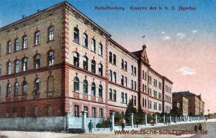Aschaffenburg, Kaserne des königlich bayerischen II. Jägerbataillon