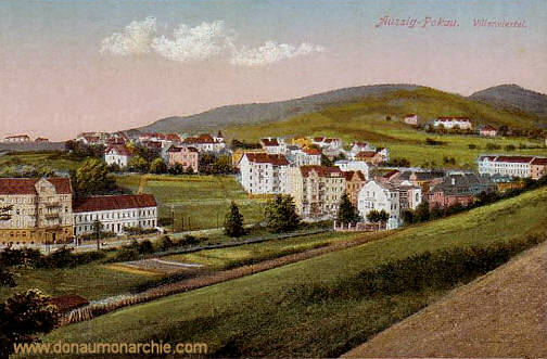 Aussig-Pockau, Villenviertel