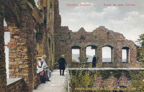 Baden-Baden, Partie am alten Schloss