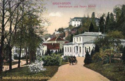 Baden-Baden, Inhalatorium und Neues Schloß