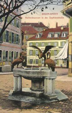 Baden-Baden, Reiherbrunnen i. d. Sophienstraße