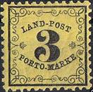Großherzogtum Baden, Land-Post, 3 Kreuzer 1862 - 1871