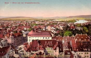 Basel, Blick von der Elisabethkirche