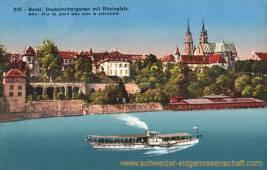 Basel, Deutschrittergarten mit Rheinpfalz