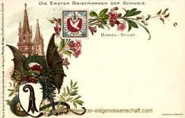 Basel, Die ersten Briefmarken der Schweiz
