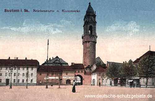 Bautzen, Reichenturm und Kornmarkt