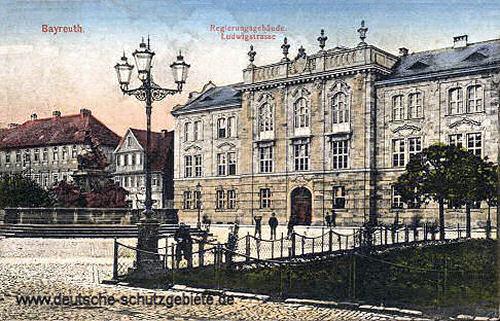 Bayreuth, Regierungsgebäude, Ludwigstraße