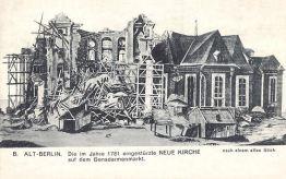 Berlin, Die im Jahre 1781 eingestürzte Neue Kirche auf dem Gendarmenmarkt