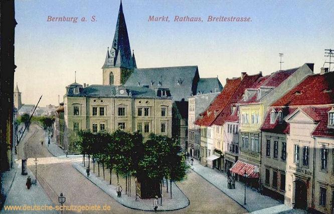 Bernburg a. S., Markt, Rathaus, Breitestraße
