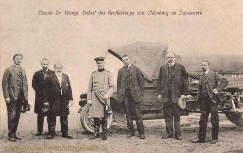 Besuch Sr. Königlichen Hoheit des Grossherzogs von Oldenburg im Hansawerk