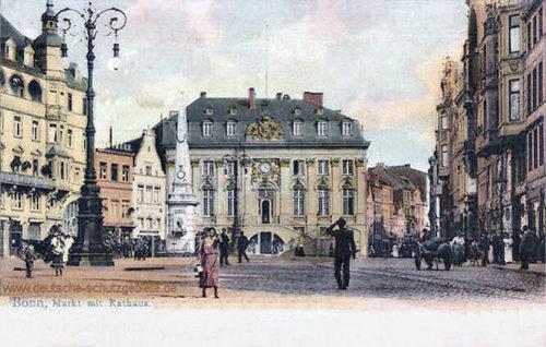 Bonn, Markt mit Rathaus