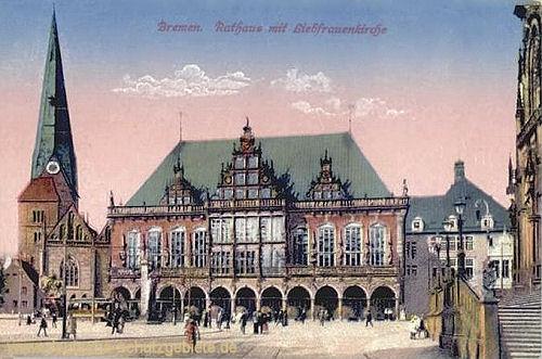 Bremen, Rathaus mit Liebfrauenkirche