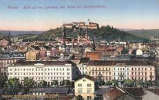 Brünn, Blick auf den Spielberg vom Turme der Jubiläumskirche