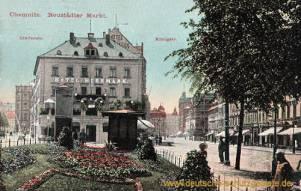 Chemnitz, Neustädter Markt, Lindenstraße und Königstraße
