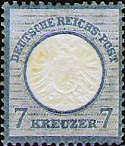 Reichspost mit Währung Gulden, 7 Kreuzer, 1871