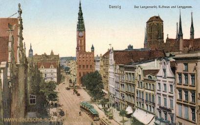 Danzig, Langemarkt, Rathaus, Langgasse