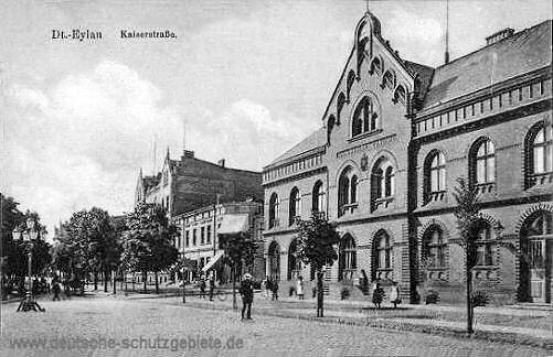 Deutsch-Eylau, Kaiserstraße (Kaiserliches Postamt)