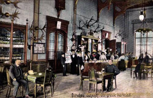 Dirschau, Bahnhof. Der große Wartesaal