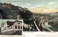 Dornburg, Schlösser, Blick vom Vogtstein, Schießhaus