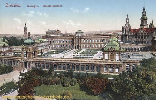 Dresden, Zwinger Gesamtansicht