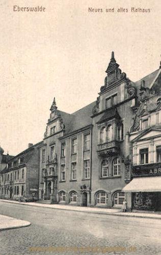 Eberswalde, Neues und altes Rathaus