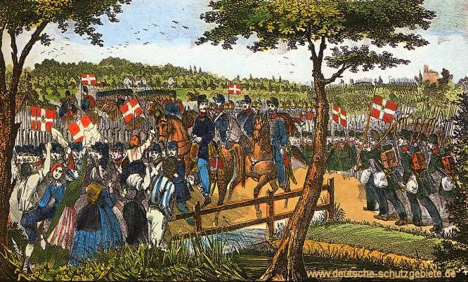 Einmarsch der dänischen Armee in Schleswig am 16. Juli 1850