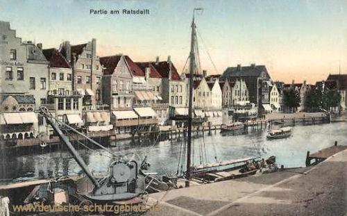 Emden, Partie am Rathausdelft