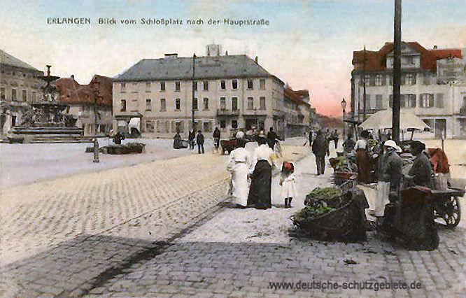 Erlangen, Blick vom Schloßplatz nach der Hauptstraße