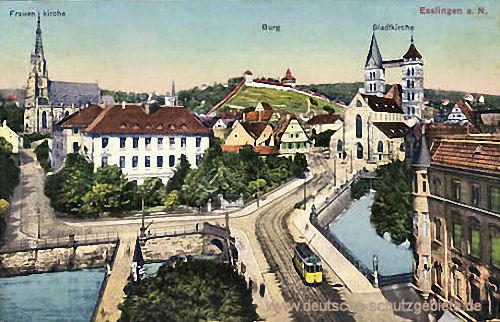 Esslingen a. N., Frauenkirche, Burg, Stadtkirche