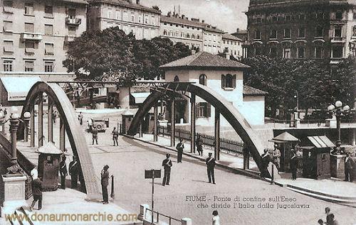 Fiume, Grenzbrücke zwischen Italien und Jugoslawien