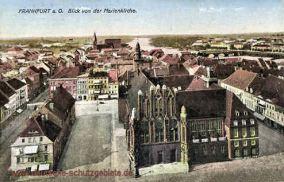 Frankfurt a. O., Blick von der Marienkirche