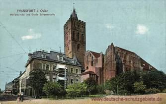 Frankfurt a. O., Marienkirche und Große Scharrnstraße