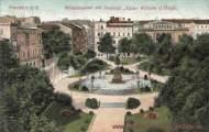 Frankfurt a. O., Wilhelmsplatz mit Denkmal Kaiser Wilhelm der Große