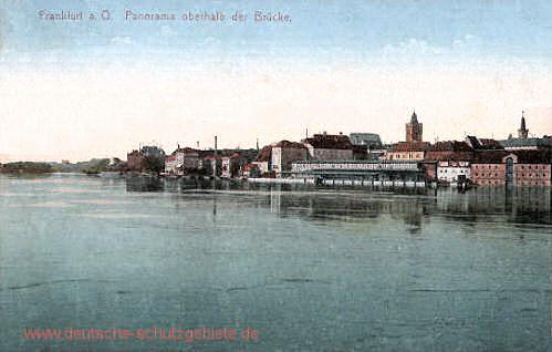 Frankfurt a. O., Panorama oberhalb der Brücke