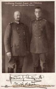 Friedrich August Großherzog von Oldenburg mit dem Erbgroßherzog Nikolaus