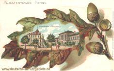 Fürstenwalde, Gymnasium und Kriegerdenkmal