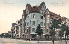 Fürstenwalde, Karl-Straße Ecke Victoria-Straße