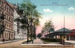 Fürth, Ludwigsbahnhof Fürth-Ost mit Hornschuchpromenade