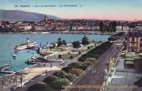 Genève, Quai du Mont Blanc - Les Promenades
