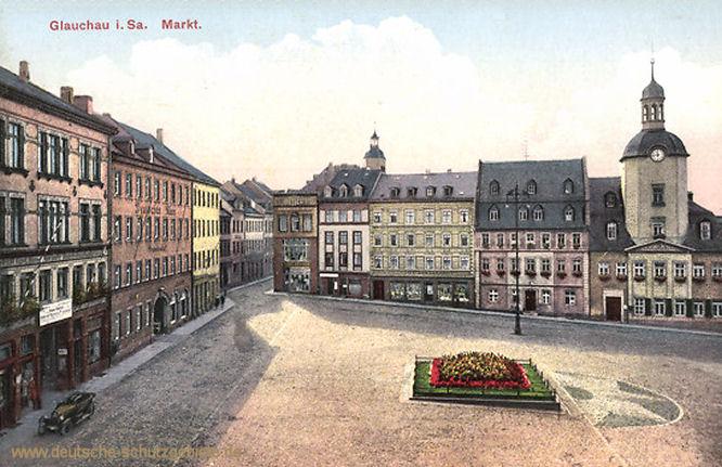 Glauchau in Sachsen, Markt