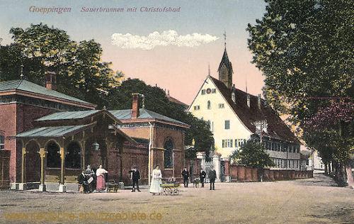 Göppingen, Sauerbrunnen mit Christofsbad