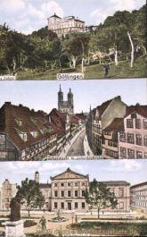 Göttingen, Der Rohns, Johannisstraße mit Johanniskirche, Wilhelmsplatz