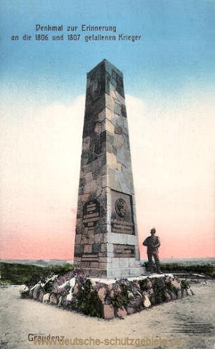 Graudenz, Denkmal zur Erinnerung an die 1806 und 1807 gefallenen Krieger