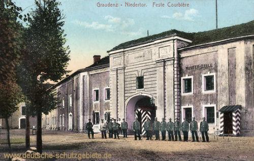 Graudenz, Niedertor, Feste Courbière, Reuter-Zelle